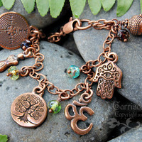 Ancient religions coexist antiqued copper by RowanOliviaJewelry
