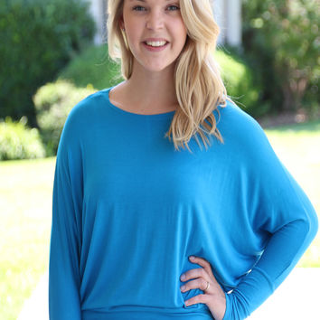 Dolman Top - Blue
