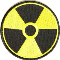 Radioactive patch, 3 inch, small Funny embroidered iron on patch