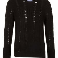 Black Knitted Ladder Sweater - New In