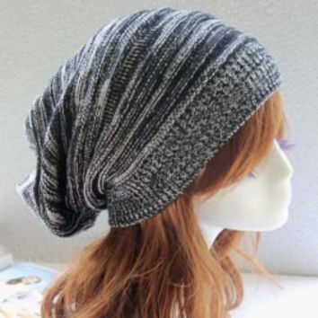 Black Knitted Hat