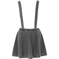 River Island Womens Grey acid wash dungaree skater skirt