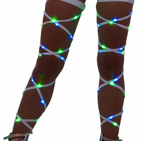 Green & Blue Light-Up Leg Wraps