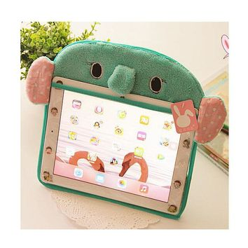 """Within 9.7"""" Hot Sale Universal Tablet Case Cover for ipad mini 2 air 1 Cute Cartoon Bracket Stand Plush Pouch Case for Huawei"""