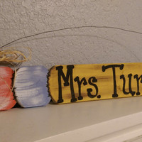 Personalized Pencil Signs, Customized Pencil Signs, Gifts for Teachers