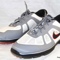 NIKE GOLF LUNARLON Shoes Sneakers Hyperfuse Gray/White Mens Size 12 W