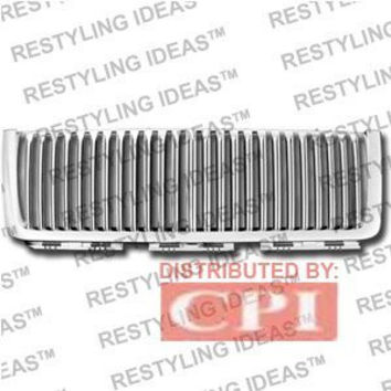 Chevrolet 2007-2008 Chevrolet Silverado Chrome Vertical Narrow Bar Abs Grille Performance