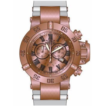 Invicta 16872 Men's Subaqua Noma III Chronograph Rose Gold Dial White Silicone Strap Dive Watch