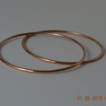 Matching Polished Copper Bangles, Copper Bangles, Copper Bracelets, Stacking Bangles, Stacking Jewelry, Unixex Jewelry, Polished Bangles