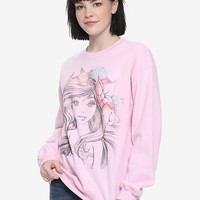 Disney The Little Mermaid Ariel Sketch Girls Sweatshirt