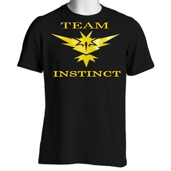 Pokemon Go Team Instinct: Lightning Unisex Crewneck T-Shirt
