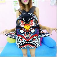 Fashion Sprayground eagle 3D Owl Backpack Wings Female Tribe Cartoon  Bags Unisex Mochila Canvas Rucksack Casual Bag