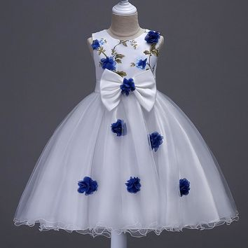 Baby Girls Party Dress for 3-12 Years Flower Girls Princess Costume Kids Birthday Party Dress Girls School Clothes for Kids 1V47