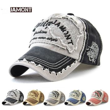Trendy Winter Jacket JAMONT 2018 New Baseball Cap Men Women Hat Snapback Caps Gorras Cotton Patch Distressed Trucker Hat Unisex Visor Casquette AT_92_12