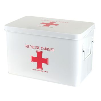 NEW Safurance Metal Medicine Cabinet Multi-layered Family Box First Aid Storage Box Storage Medical Gathering Emergency Kits