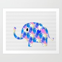 Ella The Elephant Art Print by Kathleen Sartoris