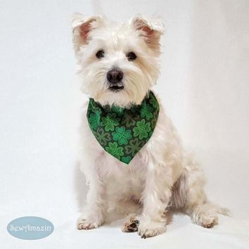 Lucky Irish Shamrocks St Patricks Day Dog Bandana