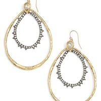 Women's Alexis Bittar Double Hoop Earrings - Gold/ Gunmetal