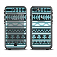 The Vector Blue & Black Aztec Pattern V2 Apple iPhone 6 LifeProof Fre Case Skin Set