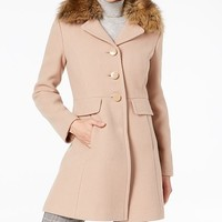 kate spade new york Faux-Fur-Collar Coat Women - Coats - Macy's
