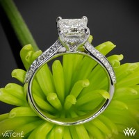 "18k White Gold Vatche ""Caroline Pave"" Diamond Engagement Ring for Princess Cut Diamonds"