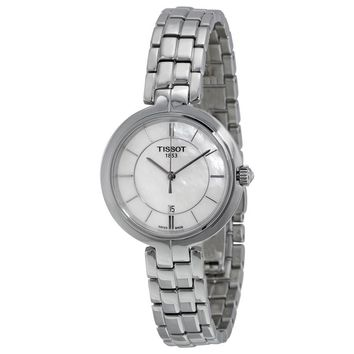 Tissot Flamingo Mother of Pearl Dial Stainless Steel Ladies Quartz Watch