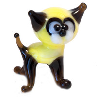 Blown Glass Cat Collectible  Figurine (code 035)