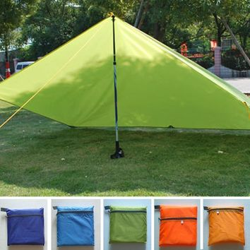 Tent Tarp Awning Canopy Sun Shade Rain Shelter Camping Beach Pad Travel (tent Only,Support Not include)