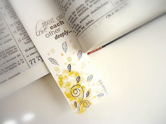 Christian love bookmarks 5 styles from alittlebirdtweetme on for Diy bookmarks for guys