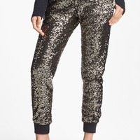 Wayf Crop Sequin Track Pants | Nordstrom