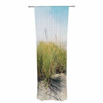 "Sylvia Cook ""Dune Grass"" Coastal Photography Decorative Sheer Curtain"