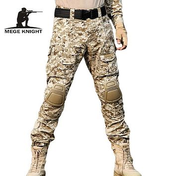 Rapid Assault multicam pants with knee pads Camouflage tactical military clothing paintball army cargo combat trousers