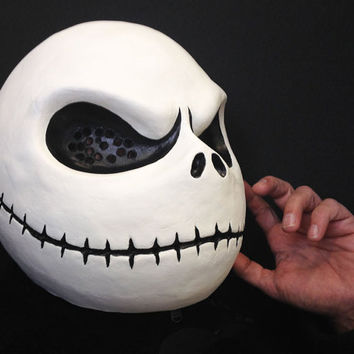 Jack Skellington costume mask head. Adult size. Handmade. Nightmare Before Christmas. Halloween cosplay masquerade mask men, women.