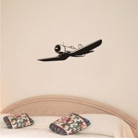 WW II Corsair airplane vinyl wall art decal sticker