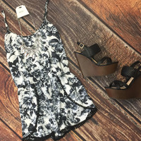 Rose Garden Romper: Black