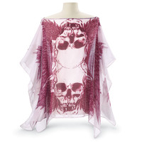 Winged Skulls Poncho - Women's Clothing & Symbolic Jewelry – Sexy, Fantasy, Romantic Fashions