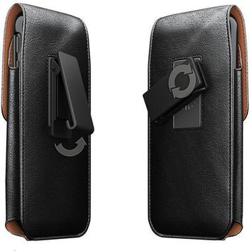 Iphone X Belt Case Apple Iphone X Case With Belt Clip Swivel Belt Clip Leather Pouch Cell Phone Holster Holder For Iphone X Fits Iphone X With Thin Protective Cover On Black