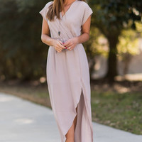Ethereal Ease Maxi Dress, Taupe