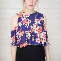 Floral Flowy Crop Top