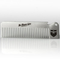 OG Stainless Steel Beard Comb w/ Bottle Opener