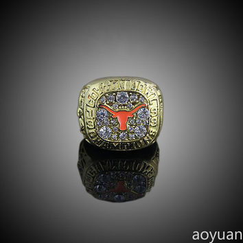 aoyuan Championship ring,1999 Texas Longhorns football university cotton Cup championship ring,