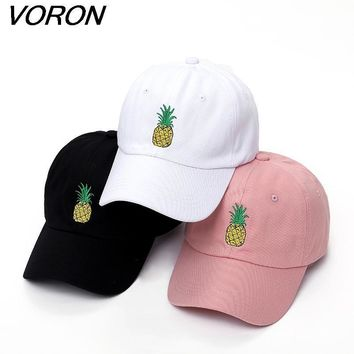 VORON men women Pineapple Dad Hat Baseball Cap Polo Style Unconstructed Fashion Unisex