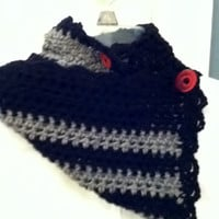 Black and Gray Neck Warmer