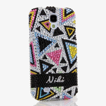 Multi-Color Triangular Personalized Name & Initials Design (style PN_1012)