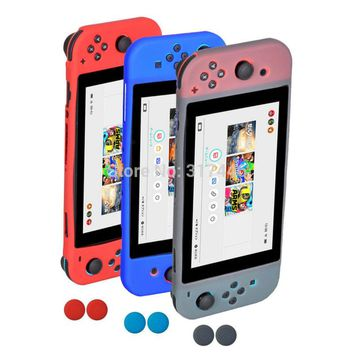 Silicone Protective Case Cover with 2pcs Silicone Thumb Grips for Nintendo Nintend Switch