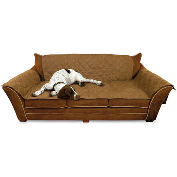 """K&H Pet Products Furniture Cover Couch Mocha 26"""" x 70"""" seat, 42"""" x 88"""" back, 22"""" x 26"""" side arms"""