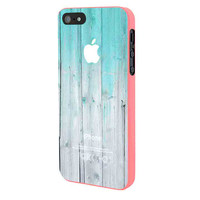 Wood Mint Apple iPhone 5 Case Framed Pink