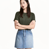 H&M Cotton-blend T-shirt $9.99