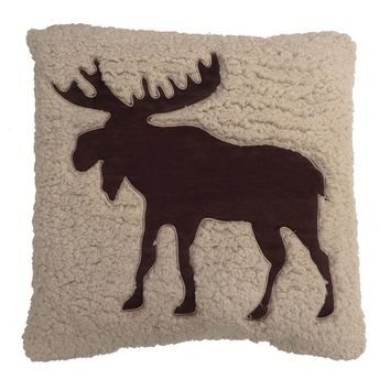 St. Nicholas Square Moose Throw Pillow