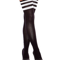 Hustler Striped Sock Thigh High Stockings - Spencer's